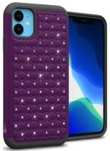 CoverON Hybrid Rhinestone Bling Aurora Series for iPhone 11 Case, Deep Purple