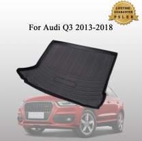 Psler Vehicle Rear Cargo Liner Trunk Tray Floor Mat for Audi Q3 2013-2018