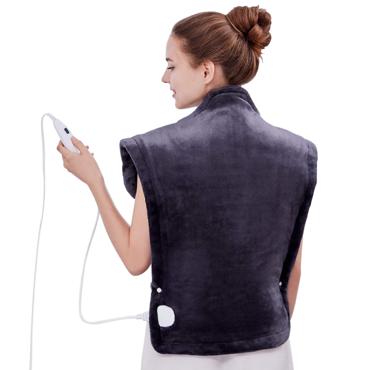 """Utaxo Heating Pad Wrap, for Neck Shoulders Whole Back Pain Relief, Soothing Muscle Pain and Tension Relief Therapy, 6 Electric Temperature Options, 25 x 32"""", XXX-Large"""