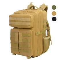 LHI 45L 900D Water Resistance Tactical Backpack Military 3P Backpack for Daily Use and Outdoor Activities