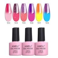 AIMEILI Soak Off UV LED Gel Nail Polish Multicolor/Mix Color/Combo Color Set Of 6pcs X 10ml - Kit Set 16