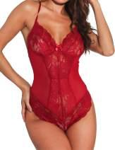 Women Sexy Lingerie Lace Bodysuit One Piece Teddy Lingerie Sleepwear