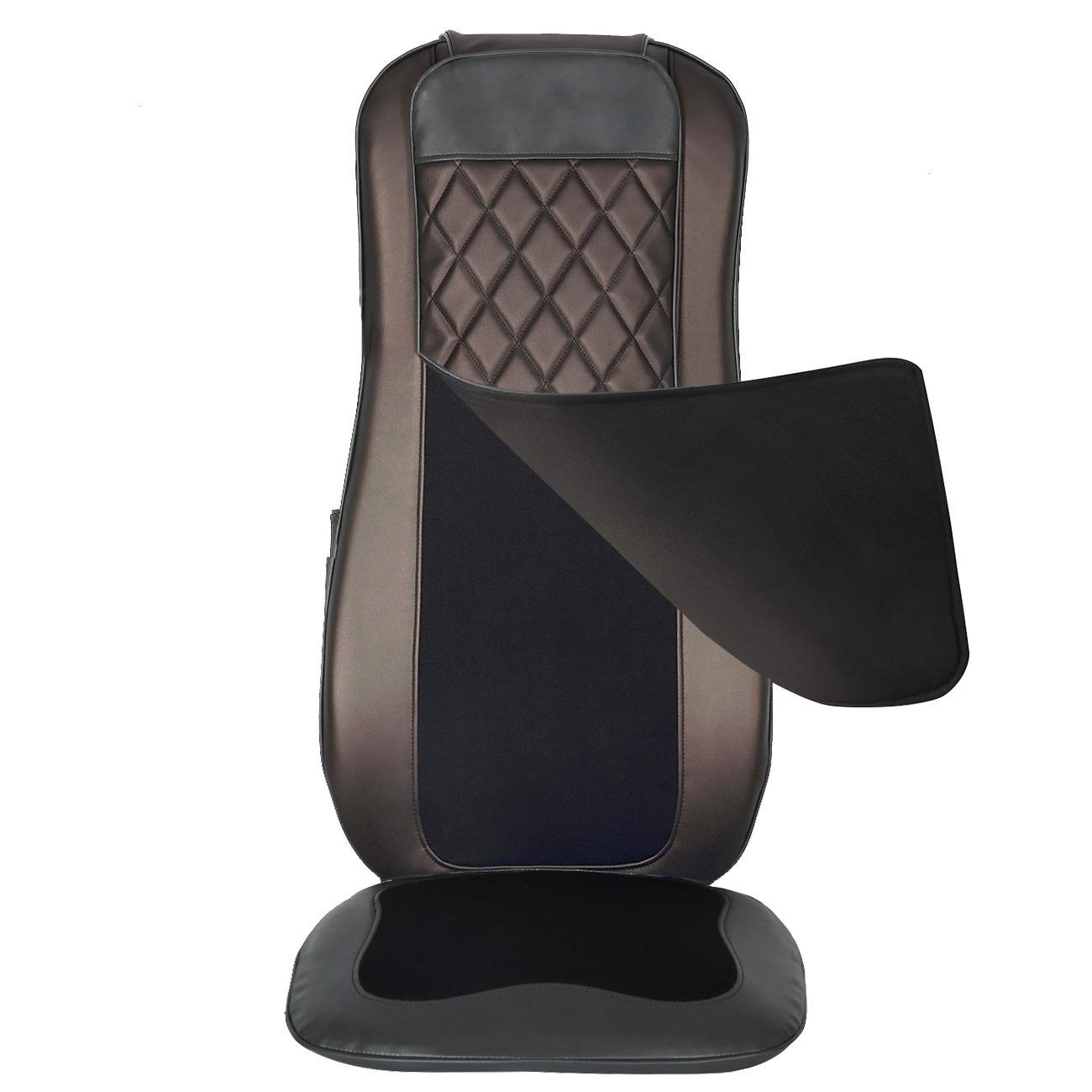 Picture of: Comfier Shiatsu Back Massager With Heat Deep Tissue Kneading Massage Seat Cushion Massage Chair Pad For Full Back Pain Relief Electric Body Massager For Home Or Office Chair Use