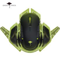 Ghost Manta 2.4G Wireless RGB Tunable Gaming Mouse Ergonomic Wired Game Mice with USB Receiver, Up to 16000 DPI Optical Sensor, 8 Programmable Buttons for Laptop, PC Computer, MacBook