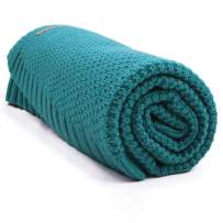 mimixiong Baby Blanket Knit Toddler Blankets for Boys and Girls Blue Green 30 x 40 inches