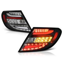 VIPMOTOZ For 2008-2011 Mercedes-Benz W204 C-Class Black Bezel Premium LED Tail Light Housing Lamp Assembly Replacement, Driver and Passenger Side