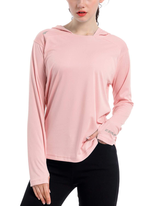 Women's UPF 50+ UV Sun Protection Hoodie Shirt Dry Fit SPF Long Sleeve Outdoor Performance Fishing Hiking Shirts