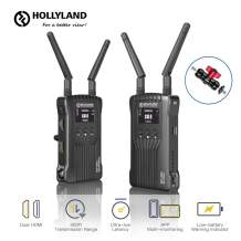 Hollyland Mars 400 1080P Wireless Dual HDMI Video Transmission System, 400ft iOS & Android App Monitoring with 3 Scene Modes, OLED Display for Vlog, Live Streaming, Multi-Camera Production