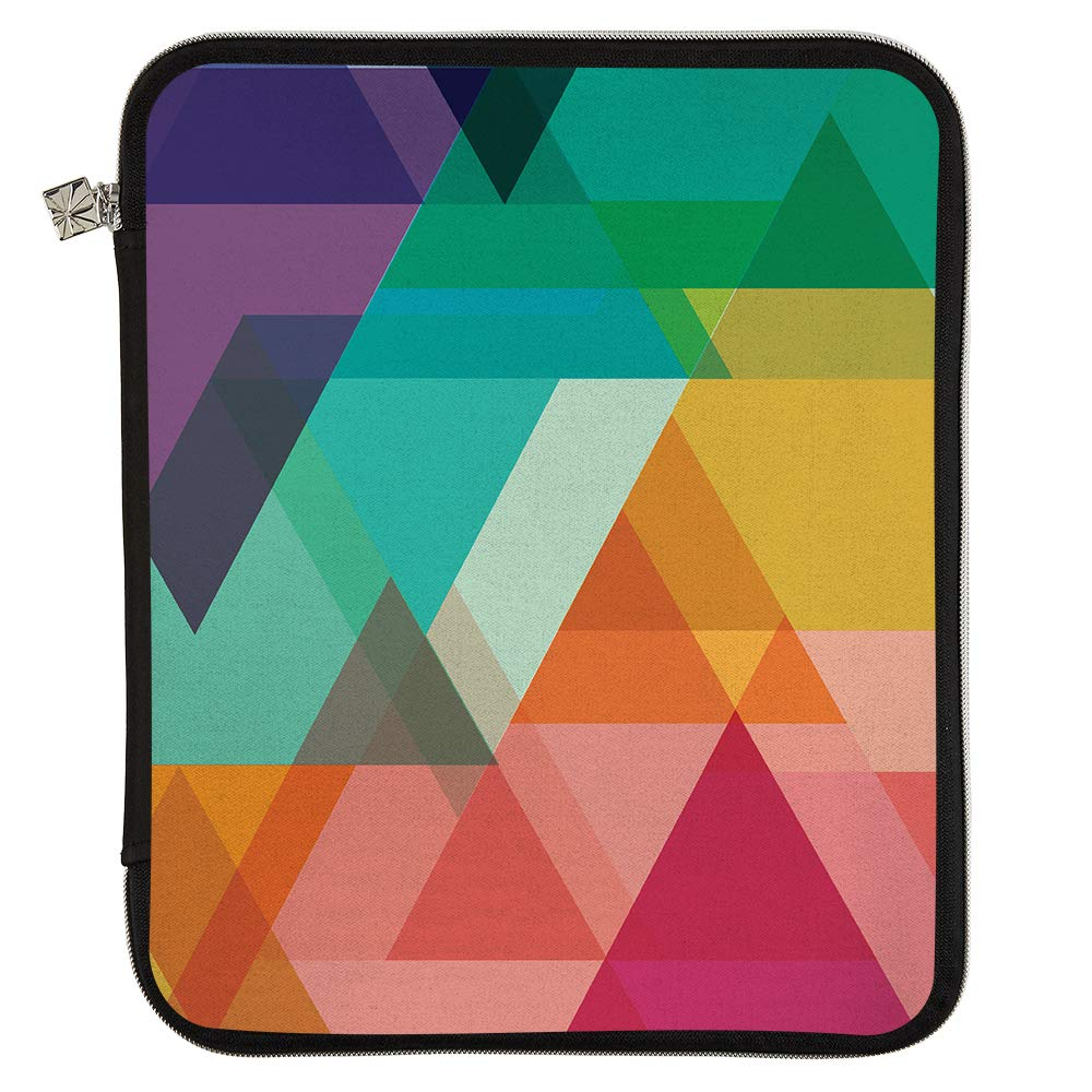 Erin Condren Medium Planner Folio - Triangle Overlay, Perfect Organizer for Documents, Planners, and Notebooks. Portfolio Case Holder with Zipper and Inner Pouch