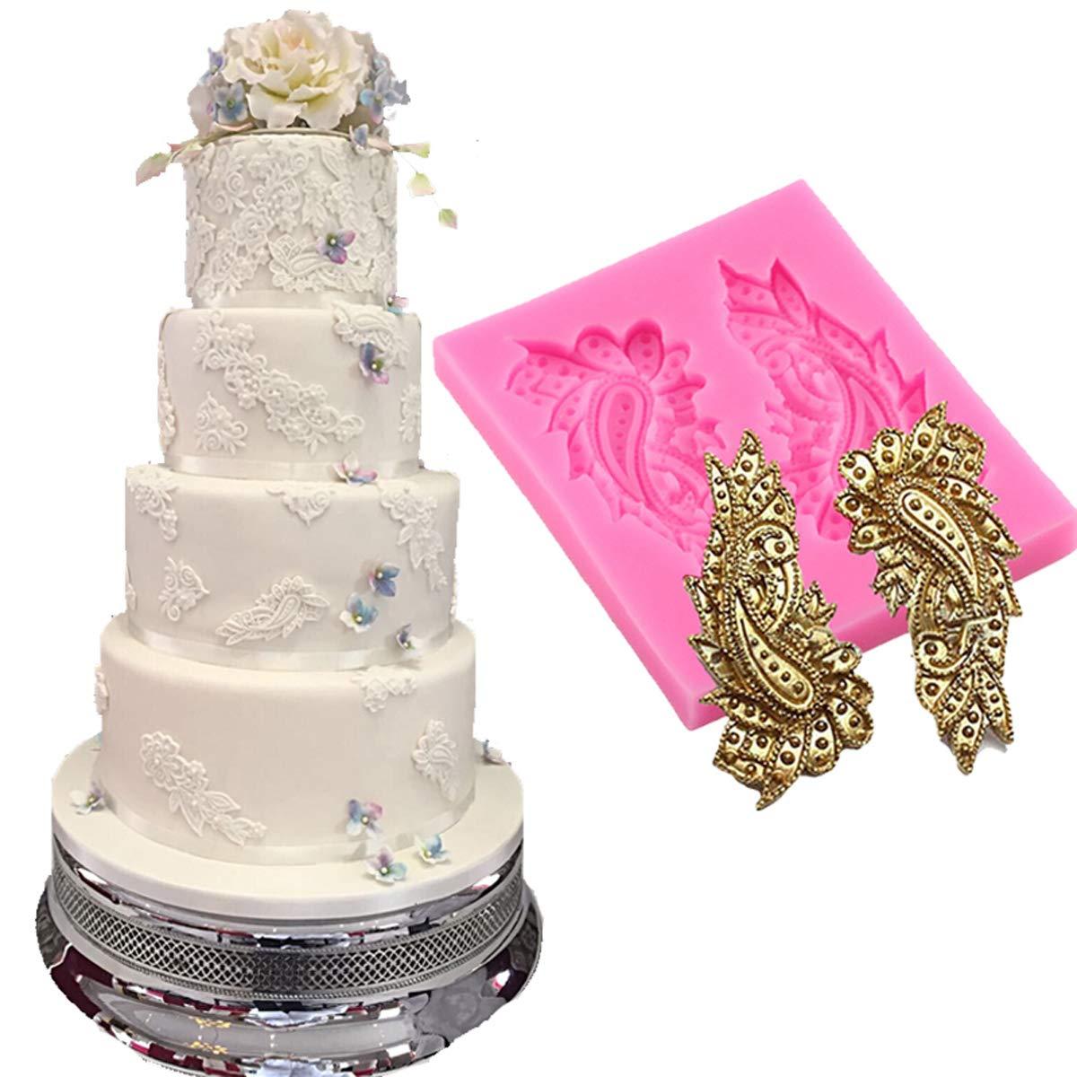 Anyana mini paisley Cupcake Toppers Fondant Sugar Craft Tool Gumpaste Chocolate Moulds