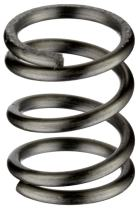 """Music Wire Compression Spring, Steel, Inch, 0.36"""" OD, 0.042"""" Wire Size, 0.483"""" Compressed Length, 0.88"""" Free Length, 10 lbs Load Capacity, 25.2 lbs/in Spring Rate (Pack of 10)"""