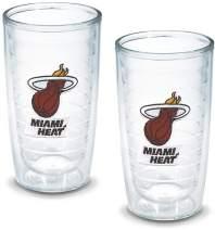 "Tervis 1052173""NBA Miami Heat"" Tumbler, 16 oz, Clear"