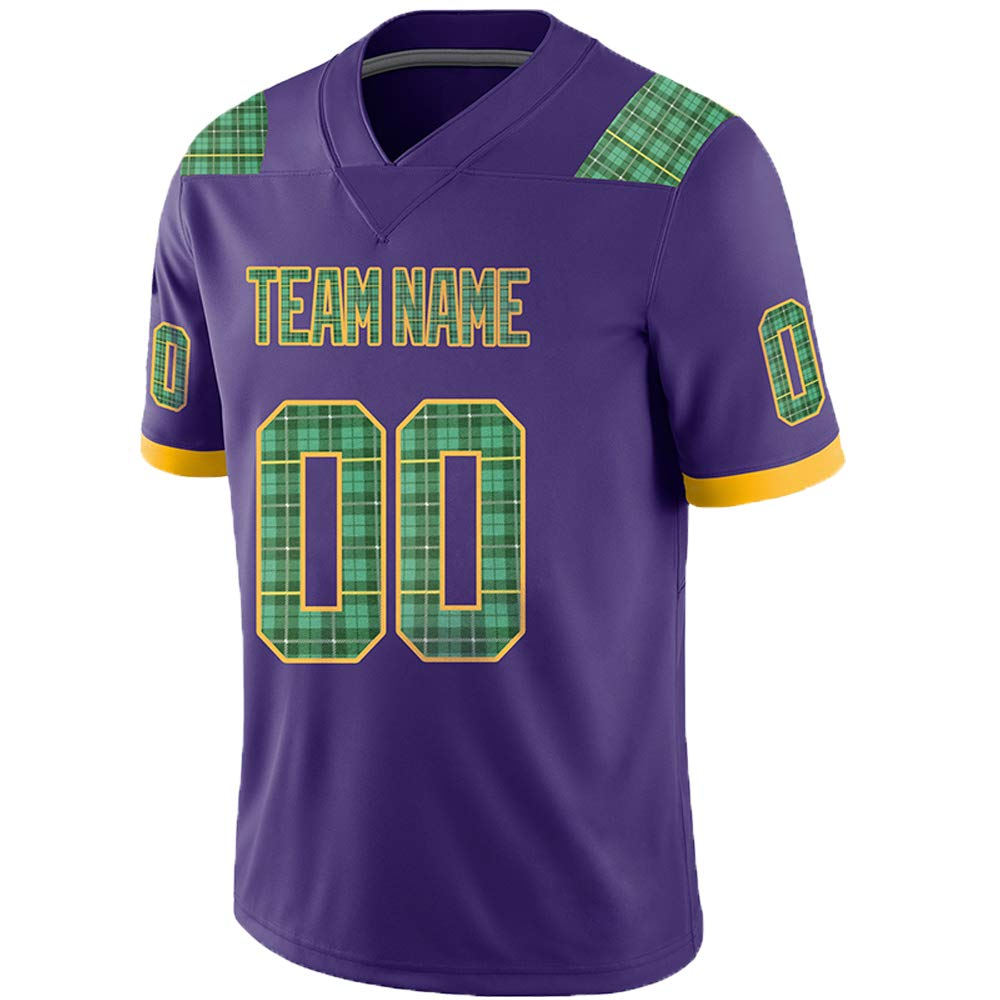 Pullonsy Purple Custom Football Jerseys for Men Women Youth Embroidered Names and Numbers S-8XL Design Your Own