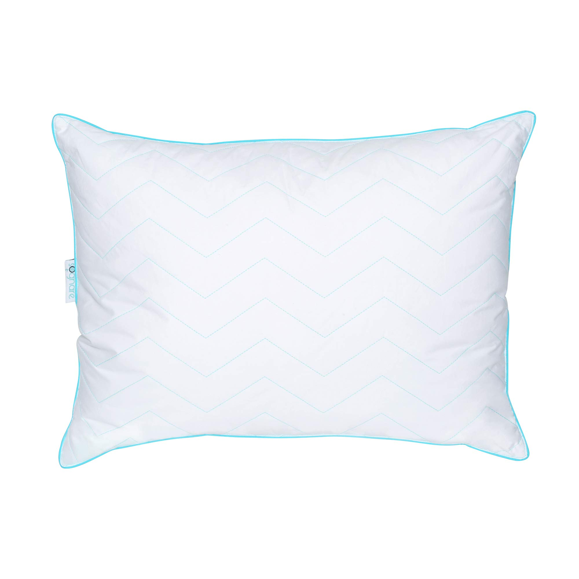 SOGNARE, The Finest Soft Hypoallergenic King Size Pillow Cotton, Soft Gel Microfiber Filling. The Best Balance Between Firmness and Softness. Never Loses its Shape. Machine Washable.