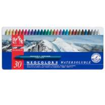 Caran d'Ache Classic Neocolor II Water-Soluble Pastels, 30 Colors