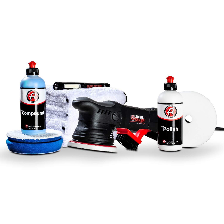 Adam's Swirl Killer 15mm Polisher - Orbital Polishing Paint Correcting Buffer Tool - Car Scratch Remover, Correcting Polish - Use Post Car Wash Clay Bar & Pre Wax or Ceramic Coating (Two Step Kit)