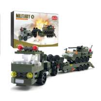 dOvOb Military Tank Car, Heavy Transport Truck Toy with Armored Vehicles Building Blocks (400 PCS),Model Toys Gifts for Kid