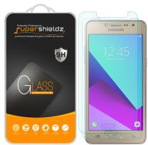 (2 Pack) Supershieldz for Samsung (Galaxy J2 Prime) Tempered Glass Screen Protector, Anti Scratch, Bubble Free