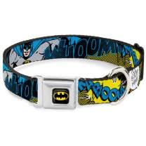 "Buckle-Down Seatbelt Buckle Dog Collar - Batman Scene1 - 1.5"" Wide - Fits 16-23"" Neck - Medium"