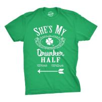 Shes My Drunker Half Funny St Patricks Day Saint Pattys Graphic Shamrock T Shirt