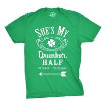 Shes My Drunker Half Funny St Patricks Day Saint Pattys Graphic Shamrock T Shirt