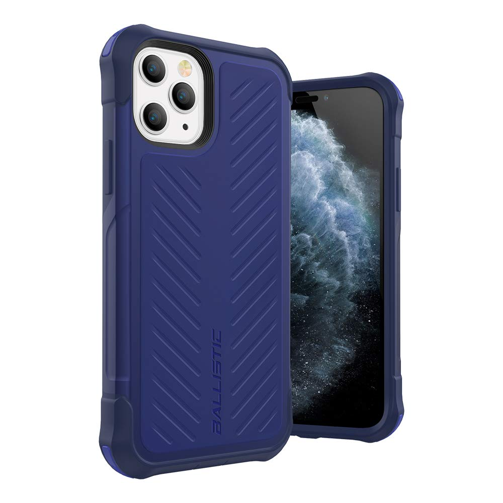 Ballistic iPhone 11 Pro Case, Military Grade Drop Tested Rugged Protective Case for iPhone 11 Pro 5.8 [Tough Jacket Series] Blue