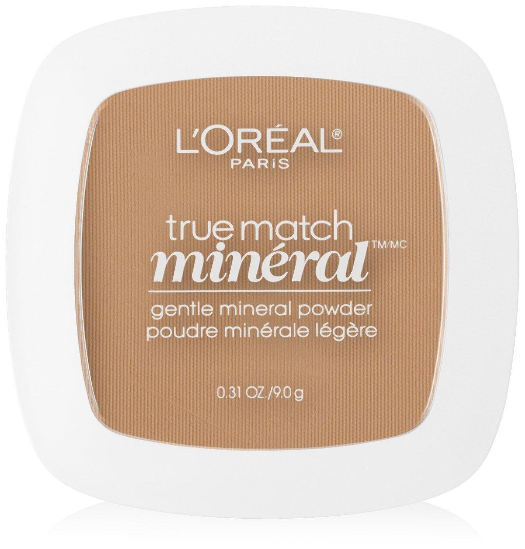 L'Oreal Paris True Match Mineral Pressed Powder, Sand Beige, 0.31 Ounce