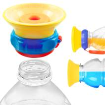 MONEE Sippy Cup Cap - Dasani, Fiji, Aquafina, Gatorade & More - Turn Store Bottles into Spill Proof Sippy Cups - For Babies, Toddlers, Kids