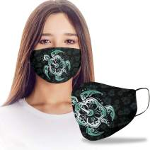 VTH Global Green Sea Turtle Design Print Cloth Reusable Washable Face Mask Women Men for Dust Protection