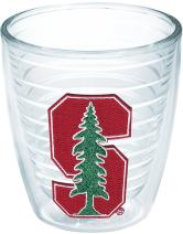 Tervis 1041488 Stanford Cardinal Logo Tumbler with Emblem 12oz, Clear