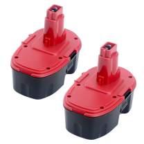 Elefly 3500mAh 2 Pack DC9096 Replacement for Dewalt 18-Volt Cordless Power Tools XRP Ni-Cad Battery DC9096 DC9098 DC9099 DE9039 DE9095 DE9096 DE9098 DW9095 DW9096 DW9098 DE9503 DC9182