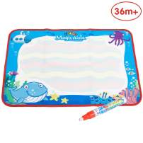 ANIKI TOYS Water Magic Drawing Painting Doodle Mat Aqua Writing Board with oen Color-Magic Pen Drawing Handwriting Toys for Kids Girls Boys Toddlers(Small, Ocean)