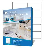 """Anylabel 10 UP 2"""" x 4"""" Easy Peel Shipping Address Labels for Laser/Ink Jet Printer Permanent Adhesive (500 Sheets, 5000 Labels)"""