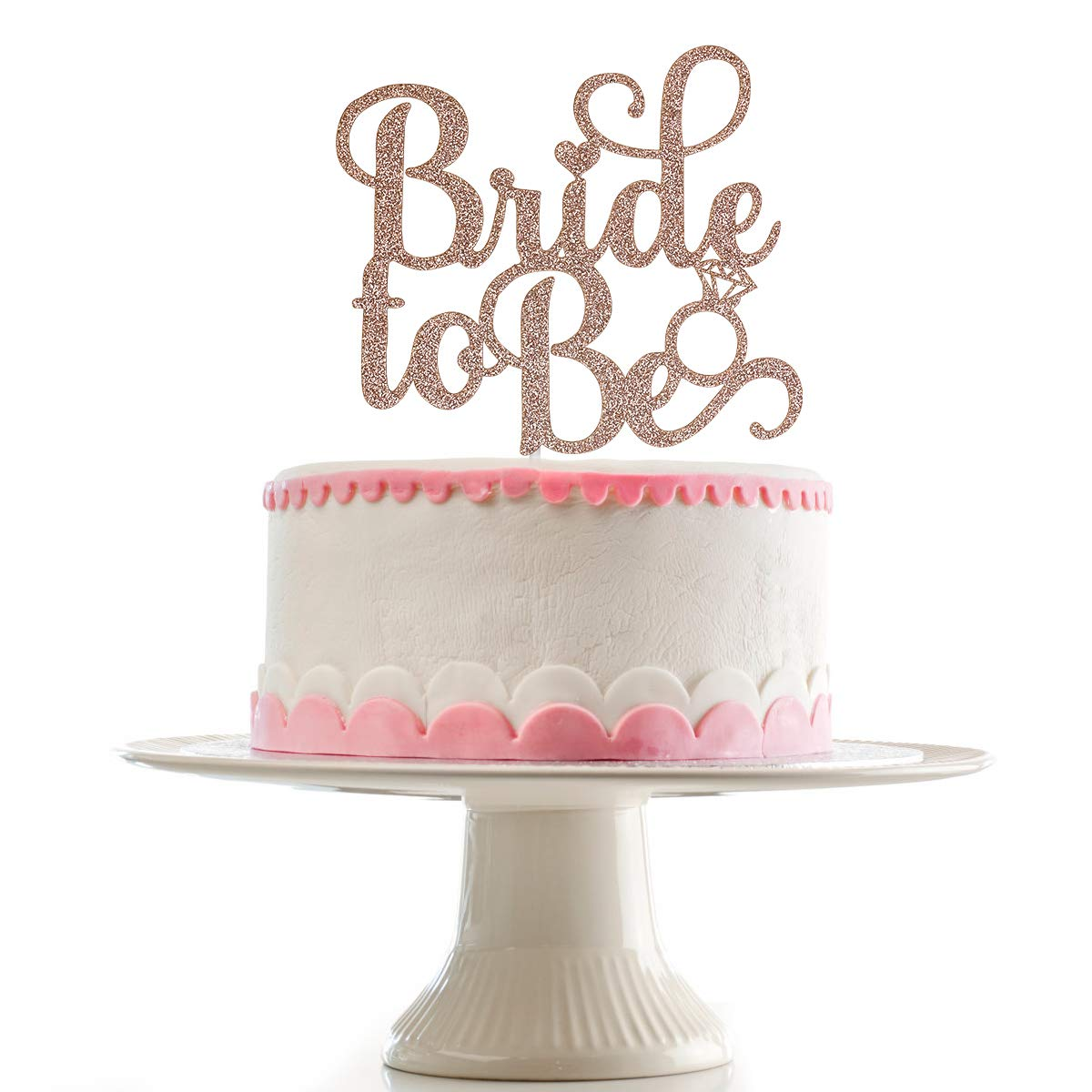 Rose Gold Glittery Bride To Be Cake Topper for Wedding Party Bachelorette Party Bridal Shower Party Decoration Supplies