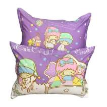 """HOLY HOME My Daughter's Birthday Gift, Little Twin Stars Pillow Sham 19""""x29""""x2pcs, Violet"""