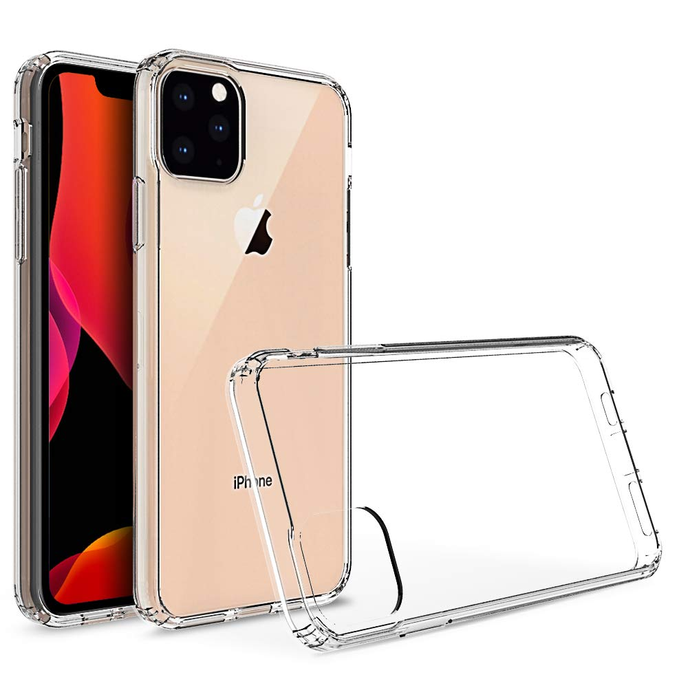 Olixar for iPhone 11 Pro Bumper Case - Hard Tough Cover - Crystal Clear Back - Wireless Charging Compatible - ExoShield - Shock Protection - Clear/Transparent