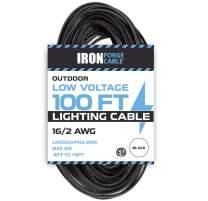 16/2 Low Voltage Landscape Wire - 100ft Outdoor Low-Voltage Cable for Landscape Lighting, Black