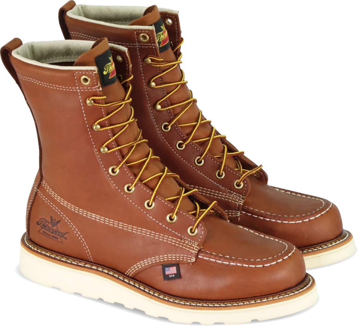 "Thorogood Men's American Heritage 8"" Moc Toe - Safety Toe"