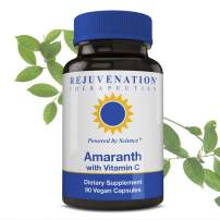 Rejuvenation Therapeutics Amaranth with Vitamin C | Supports Athletic Performance, Heart Health and Immunity, Boosts Energy, Protein Rich | Premium Organic and Vegan Friendly | 60 Capsules