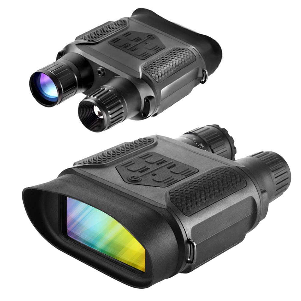 Slsy Digital Night Vision Hunting Binoculars, Infrared Night Vision Hunting Binocular with Large Viewing Screen, Camera & Camcorder Function Can Take 5mp Photo & 640p Video from 400m/1300ft