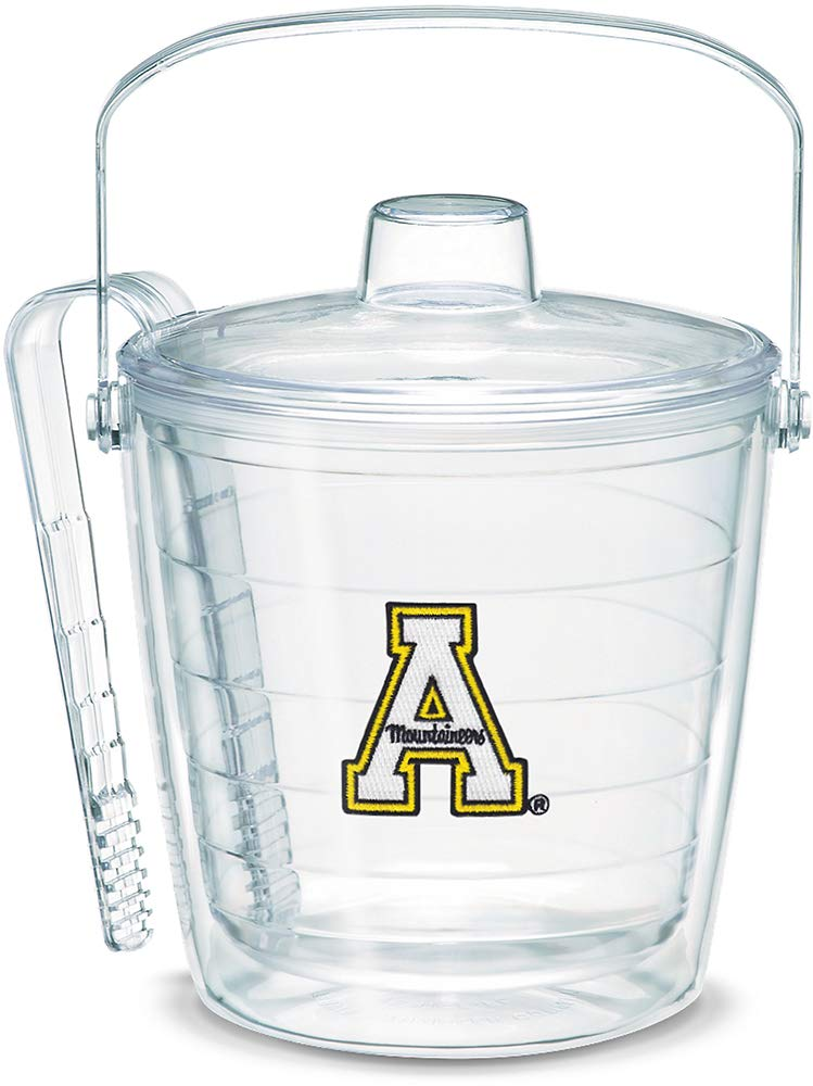 Tervis 1053324 Appalachian State Mountaineers Ice Bucket with Emblem and Clear Lid 87oz Ice Bucket, Clear