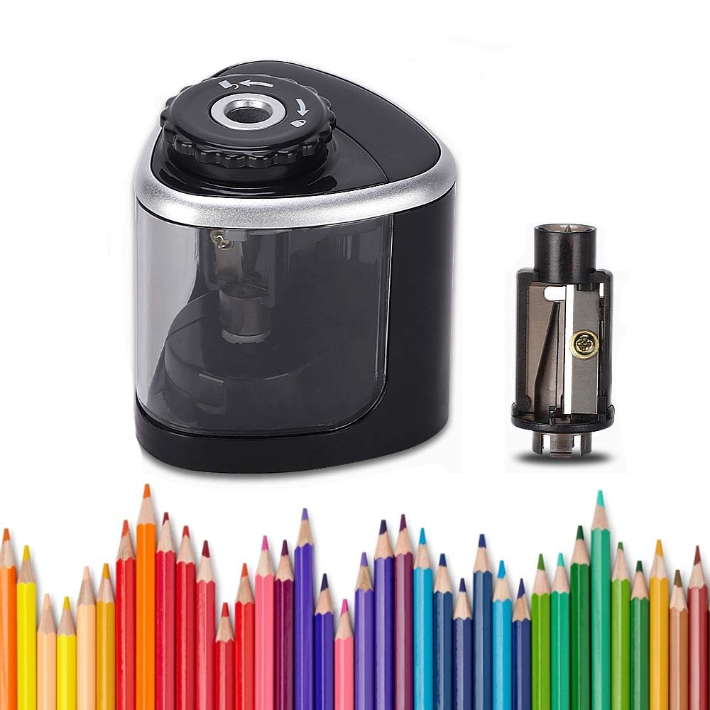 LOBKIN Electric Pencil Sharpener, Battery-Powered, Batteries Included, High-Speed Automatic Pencil Sharpener