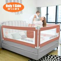 """SURPCOS Bed Rails for Toddlers - 60"""" 70"""" 80"""" Extra Long Baby Bed Rail Guard for Kids Twin, Double, Full Size Queen & King Mattress (Flamingo, 1Side:80""""(L)×30""""(H))"""
