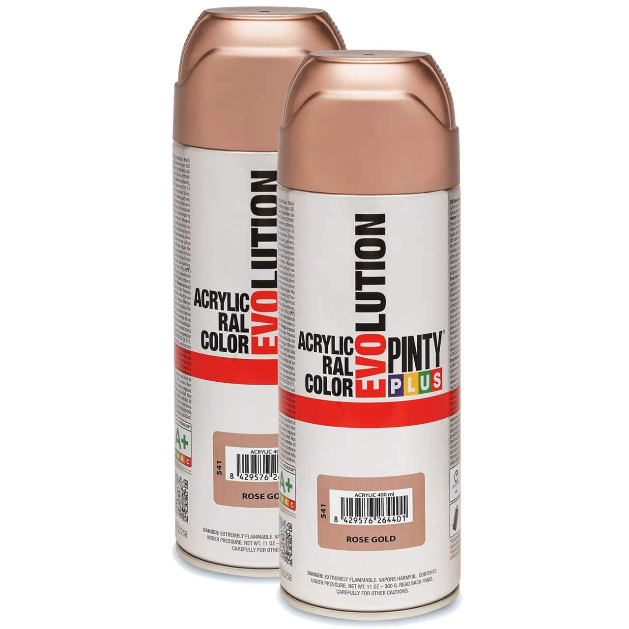 Fast Dry, Low Odor - Acrylic Spray Paint PintyPlus Evolution - Pack of 2 (Rose Gold)
