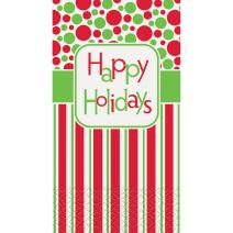 Happy Holidays Paper Guest Napkins, 16ct