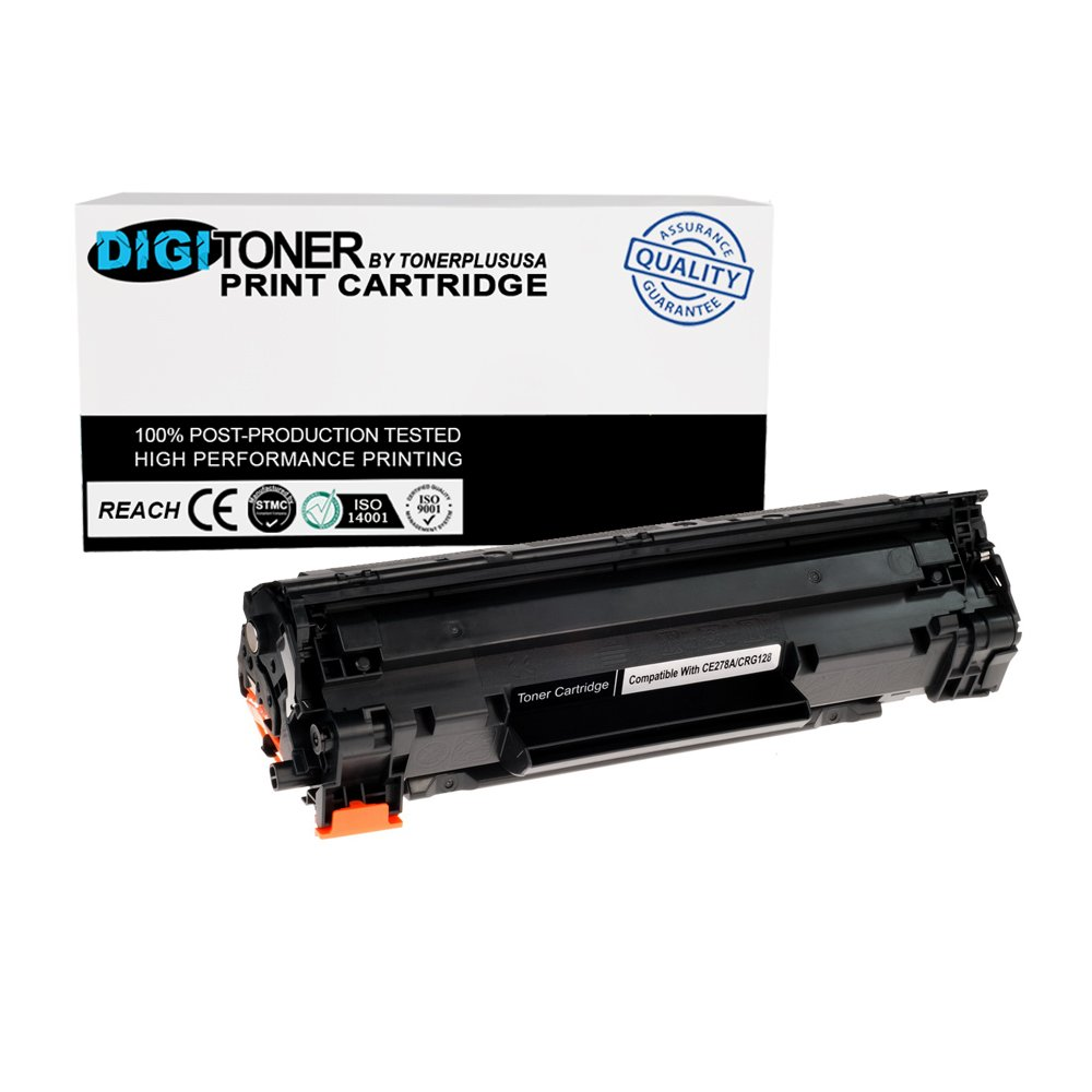 TonerPlusUSA New Compatible Canon 128 CRG128 Laser Toner Cartridge Replacement (Black, 1 Pack)