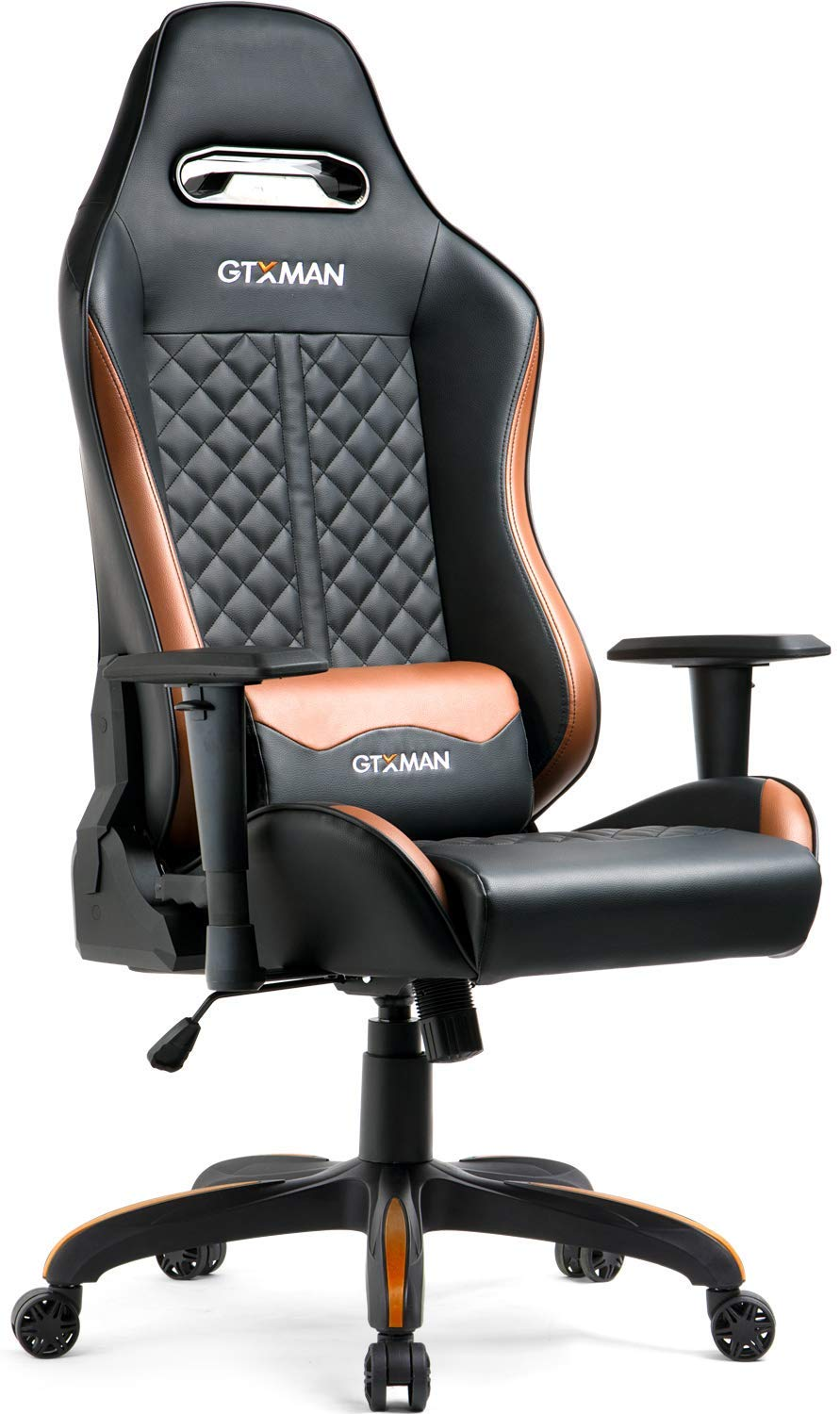 Picture of: Gtracing Gaming Chair Ergonomic Office Chair Premium Series Adjustable Esports Chair Large Size Pu Leather Computer Chair High Back Executive Office Chair Brown