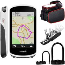 Garmin Edge 1030 GPS Bicycle Computer (010-01758-00) with Deco Gear 6-in-1 Multifunctional Bike Repair Tool, Heavy Duty Combination U-Lock, and Cell Phone Mount Bundle