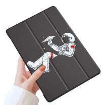 LuGeKe Space Astronauts Case for iPad 9.7 inch 2016 iPad Pro,Spaceman Patterned iPad Case Cover,Lightweight Slim Standing iPad Pro Cover for Boys Men,Airplane