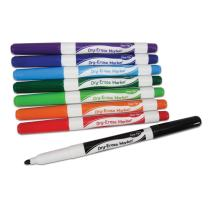 EAI Education Dry-Erase Markers: Fine-Tip - Assorted Colors - Set of 8